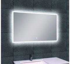 Transparante Saqu Deluxe Spiegel met LED verlichting Dimbaar 100x60 cm