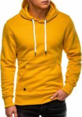 Merkloos / Sans marque Hoodie - heren - effen - basic - geel