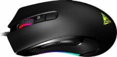 Zwarte Patriot Memory Viper 550 muis USB Type-A Optisch 10000 DPI Rechtshandig