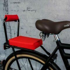 Rode Ohmiomine Complete Set : bagagedrager-kussen en rug-rolkussentje incl. voetsteuntjes en rugleuning