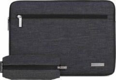 Somstyle Laptophoes 13 Inch – Macbook Pro 13 Inch case 2009-2012 – Macbook Air 2008-2017 Case – Laptop Sleeve + Penselen Etui – Donkergrijs