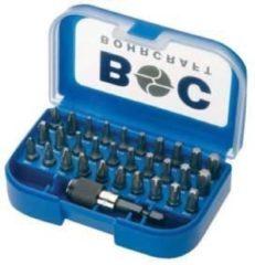 Blauwe Kabeldirect Bohrcraft 32-delige Bitset met Quik-lock houder