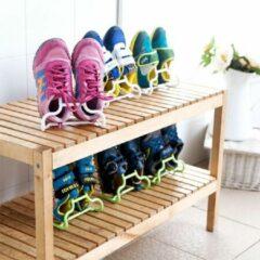 Merkloos / Sans marque Schoenenrek - Schoenhouder - Schoenenbox - Organizer Voor Kinderschoenen - Roze Kleur - 4 Stuks