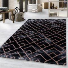 Impression Vendi Design Laagpolig Vloerkleed Zwart Brons - 140x200 CM