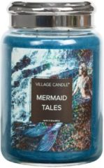 Blauwe Village Candle - Mermaid Tales - Large Candle - 170 branduren