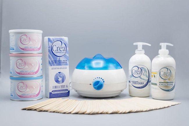 Afbeelding van Crea Wax Complete ontharing wax / hars set professioneel