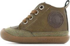 Donkerbruine Shoesme Jongens Babyschoenen Bf8w001 - Groen - Maat 20