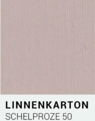 Linnenkarton notrakkarton Linnenkarton 50 Schelp roze A4 240 gr.