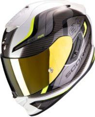 Witte Scorpion EXO-1400 Air Attune White Neon Yellow Integraalhelm - Motorhelm - Maat S