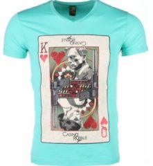 Groene T-shirt Korte Mouw Mascherano T-shirt - James Bond Casino Royale Print
