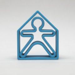 Dëna bijtring - 1 kind + 1 huis - neon blauw