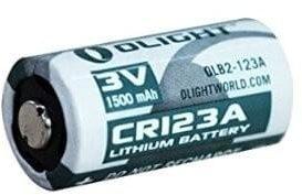 Afbeelding van Olight CR123A Lithium batterij 3V Wit/Groen