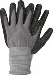 Merkloos / Sans marque Grijze/zwarte nylon werkhandschoenen met nitril coating - Werkhandschoenen - Klusartikelen - Tuinartikelen M