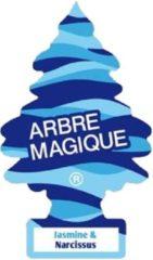Oranje Arbre Magique Luchtverfrisser 12 X 7 Cm Jasmine & Narcis Blauw