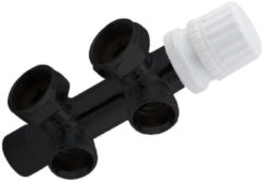 Best Design luxe Onderblok haaks 3/4''x3/4'' zwart mat 4009820