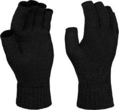 Regatta Vingerloze gebreide handschoenen zwart voor volwassenen