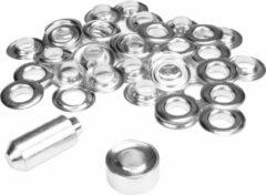 Zilveren ESVO Ø 12 mm zeilringen - 25 ringen - messing vernikkeld - 1 stempel