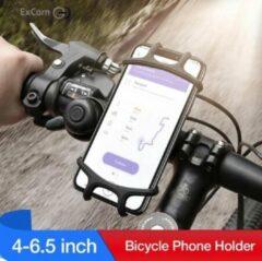 Smartphone houder fiets - Telefoonhouder voor op de fiets - Mobiele telefoonhouder - Gsm toestel - Stuur - Universeel - Zwart - Bike Mount Holder | ( Apple / iPhone / Samsung / Huawei / Nokia / LG / HTC / Sony / Xiaomi / Acer / Google)