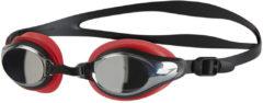 Rode Speedo Mariner Supreme zwembril met spiegelglazen - Zwembrillen volwassenen