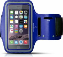 Marineblauwe #DoYourFitness - Sportarmband - »RunnerMan« - Hardlooparmband voor telefoon - LARGE 60 cm - Navyblauw