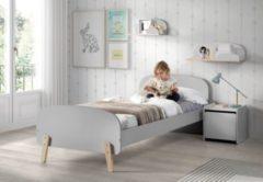 Vipack Furniture Vipack Einzelbett Kiddy 90x200 cm - Hellgrau