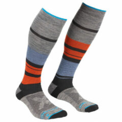Ortovox - All Mountain Long Socks Warm - Wandelsokken maat 45-47, grijs/zwart