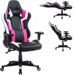 VDD Gaming Gamestoel Tornado bureaustoel - ergonomisch verstelbaar - racing gaming stoel - zwart roze