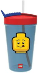 Rode Lego Iconic Drinkbeker - Incl. Rietje - 500 ml - Blauw
