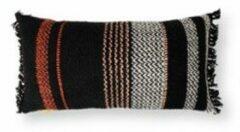 Zwarte Malagoon Multicolor sierkussen 35 x 60 cm