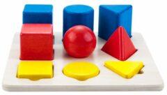 Rode Engelhart Educatief Geometric sorter 21 x 21 cm color//size rubber wood plate