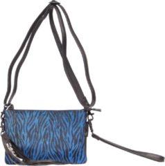 Blauwe Legend Como Dames Crossbodytas Zebra blue