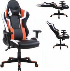 VDD Gaming Gamestoel Tornado bureaustoel - ergonomisch verstelbaar - racing gaming stoel - zwart oranje