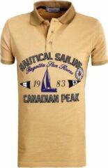 Beige Canadian Peak Poloshirts heren Heren Poloshirt Maat M