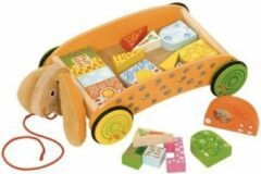 Beige BIGJIGS Big Jigs Toys Bunny Brick Cart