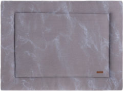 Grijze Baby's Only Boxkleed Marble - cool grey/lila - 75x95