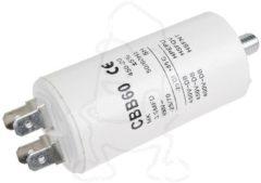 Universeel Kondensator 3,50µF 450V (mit 6,3 mm AMP-Doppelsteckfahnen & Bodenbefestigungsschraube M8) für Waschmaschinen 032003UN