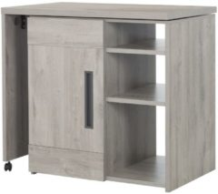 Gamillo Furniture Multifunctioneel barkast Boston 102 tot 160 cm breed in licht grijs eiken