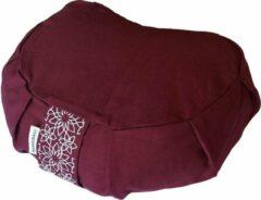 Samarali meditatiekussen crescent (Rood) - ethisch geproduceerd van 100% biologisch katoen (GOTS gecertificeerd)  2lagen   34 x 20 x 17 cm  Verkrijgbaar in 6 natuurlijke kleuren