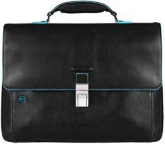 Zwarte Piquadro Blue Square Exp. Computer Portfolio Briefcase 15.6 inch black