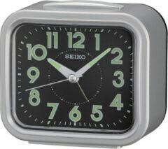 Zilveren Seiko QHK023S - wekker met electronisch bel - grijze kunststof kast