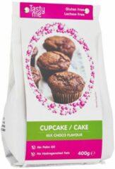 Witte CHOCO CUPCAKE / CAKE MIX GLUTENVRIJ 400g. Bakmix | bakmixen. Taartingrediënten en bakspullen glutenvrij bakmixen kopen. (Tasty Me)
