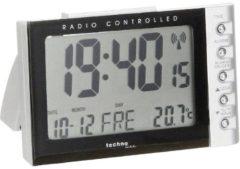 Zilveren Radio gestuurde wekker - Datum - Temperatuur - Technoline WT 188