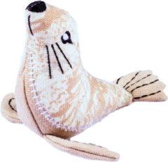 Beige Resploot Zeeleeuw - Duurzaam Hondenspeelgoed - 17 X 5 X 20 cm Assorti