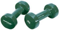 Tunturi Dumbell set - 2 x 2 kg - Vinyl - Groen