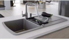 VidaXL Lavello da Cucina in Granito Vasca Doppia Grigio