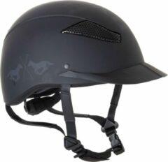 Zwarte HV Polo Riding helmet Langley mat Black S