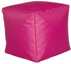 Sitzwürfel Hocker Sitzkissen Nylon fuchsia 40x40x40 cm Linke Licardo fuchsia