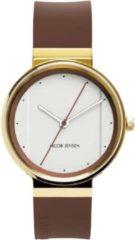 Jacob Jensen 758 horloge heren - bruin - edelstaal doubl�