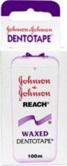 Js Johnson & Johnson Reach Waxed Dentotape - 100 m - Flosdraad