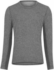 Licht-grijze Dhb Aeron Thermal Crew shirt (lange mouwen) - Hardloopshirts (lange mouwen)